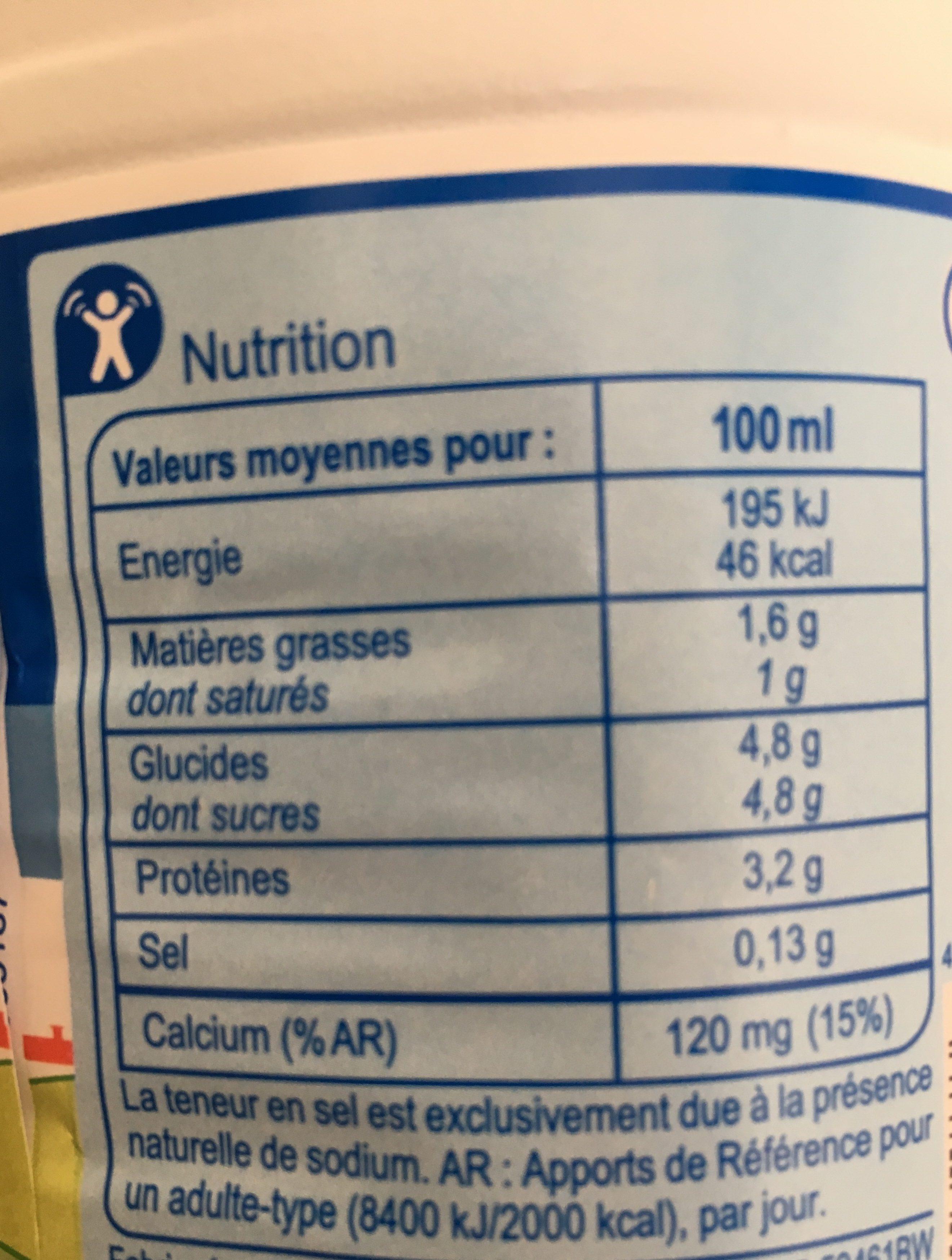 Lait des plaines de La Loire - Ingredients - fr