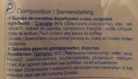 Crevettes sauvages - Ingrédients - fr
