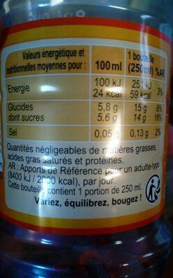 Iced tea saveur pêche - Nutrition facts - fr
