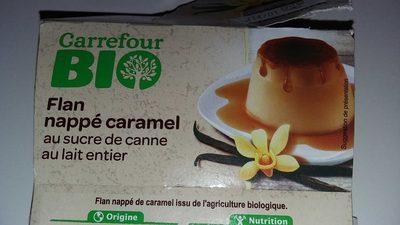 Flan nappé de caramel Bio - Produit
