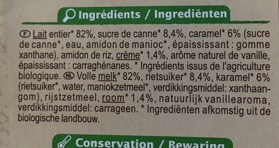 Flan nappé de caramel Bio - Ingrédients - fr