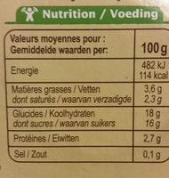 Flan nappé de caramel Bio - Informations nutritionnelles - fr