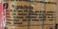 10 knacks pur porc - Ingrediënten