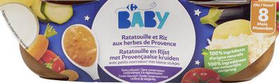 Ratatouille et Riz aux Herbes de Provence avec petits morceaux - Product - fr