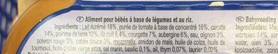 Ratatouille et Riz aux Herbes de Provence avec petits morceaux - Ingredients - fr