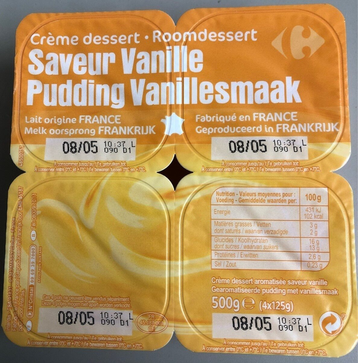 Pudding Vanillesmaak - Product - fr