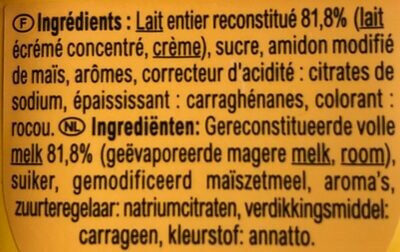 Pudding Vanillesmaak - Ingredients - fr
