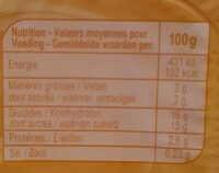 Pudding Vanillesmaak - Nutrition facts - fr