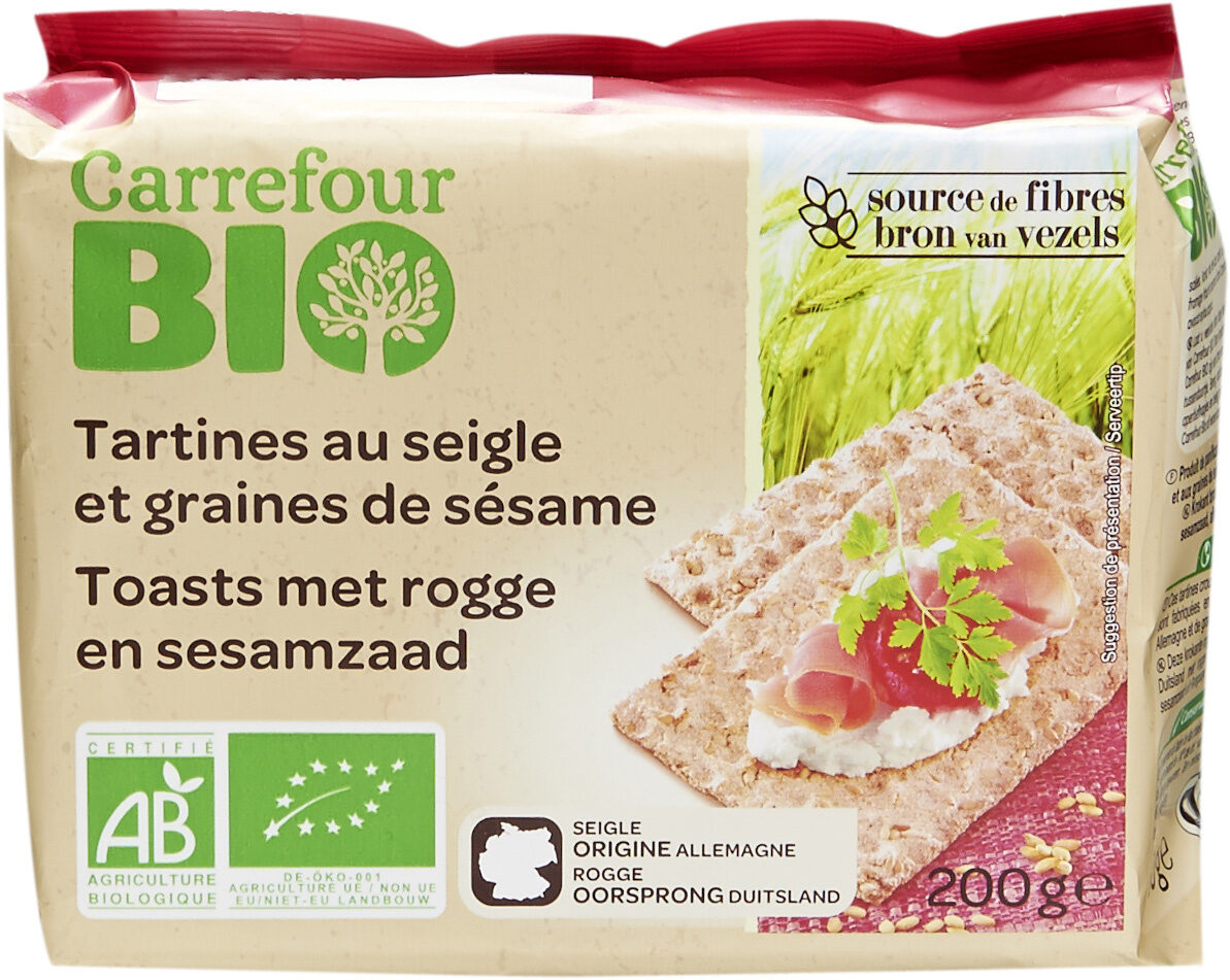 Tartines au seigle et graines de sésame - Prodotto - fr