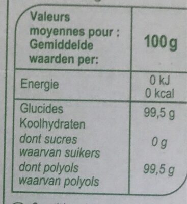 Stylesse - Informations nutritionnelles - fr