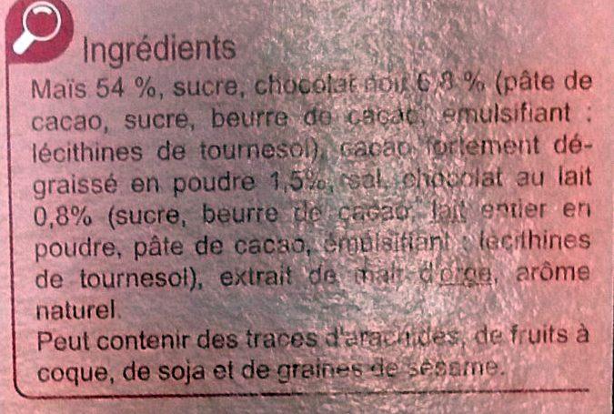 Cornflakes Choco - Ingredientes - fr