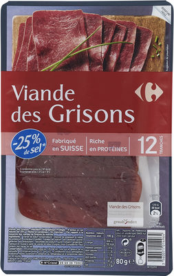 Viande des Grisons - Product - fr