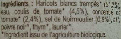 Haricots blancs cuisinés - Ingredienti - fr
