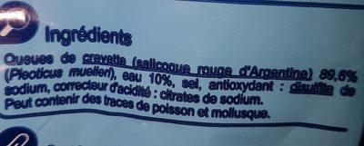 Queues de gambas sauvages - Ingredienti - fr