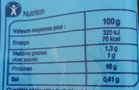 Queues de gambas sauvages - Valori nutrizionali - fr