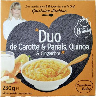 """""""Duo de Carotte & Panais, Quinoa & Gingembre"""" - Product"""