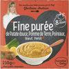 Fine purée de Patate douce, Pomme de Terre, Poireaux, Bœuf, Persil - Product