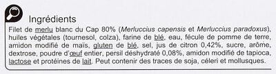 Merlu blanc du Cap Façon meunière - Ingrédients - fr