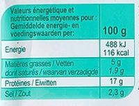 Dés de jambon - Voedingswaarden - fr