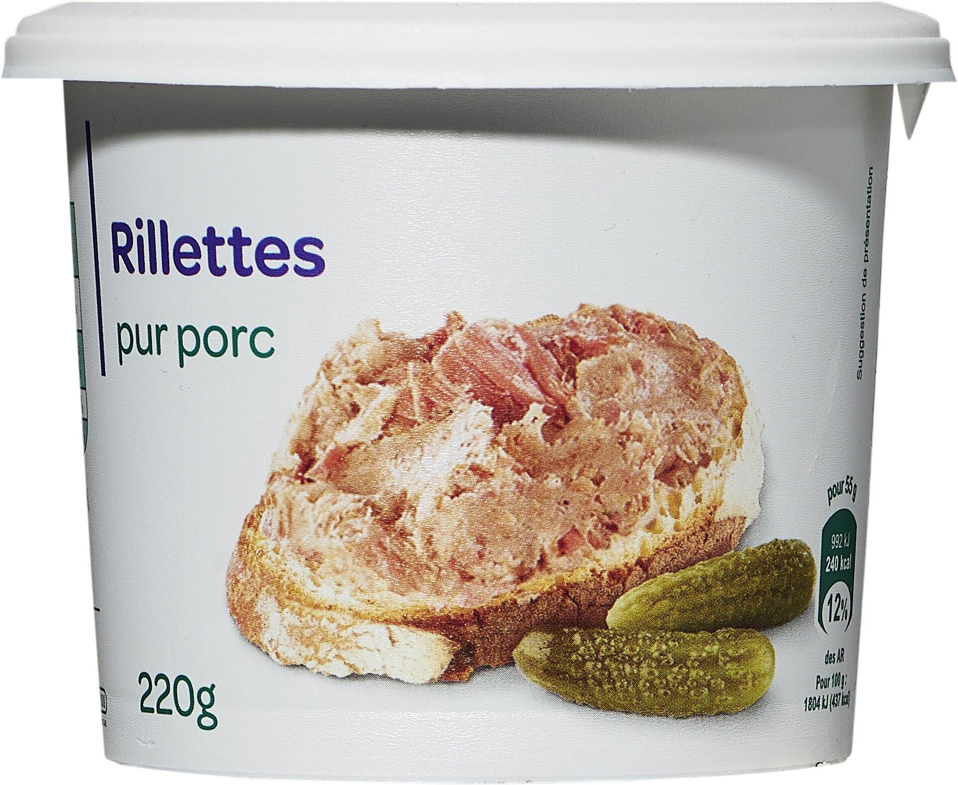 Rillettes pur porc - Produit - fr