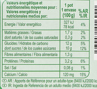 Sojamandarine - citron vert - Nutrition facts