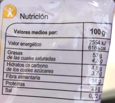 Almendras fritas y saladas - Información nutricional