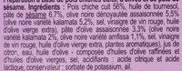 Houmous aux olives - Ingredienti - fr