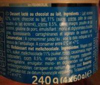 Mousse  Chocolat au Lait - Ingrediënten - fr