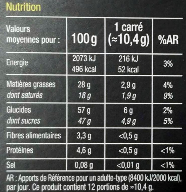Noir Fourré Lemon Curd - Informations nutritionnelles