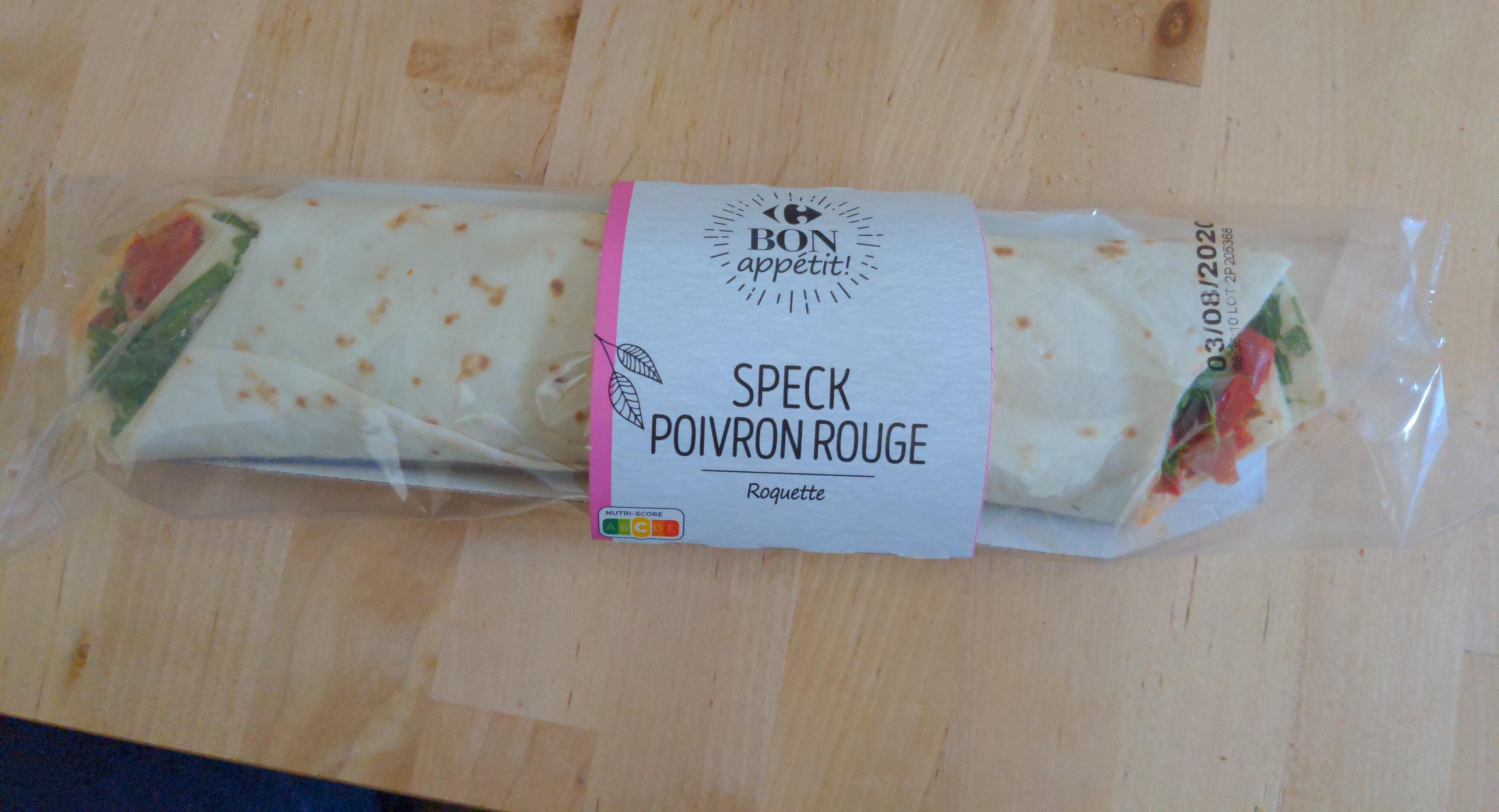 Speck poivron rouge et roquette wrap - Product - fr