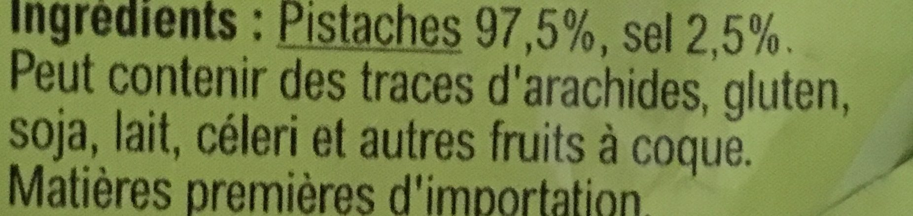 Pistaches grillées salées - Ingrediënten