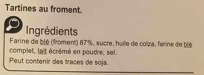 Tartine au froment - Ingredients - fr