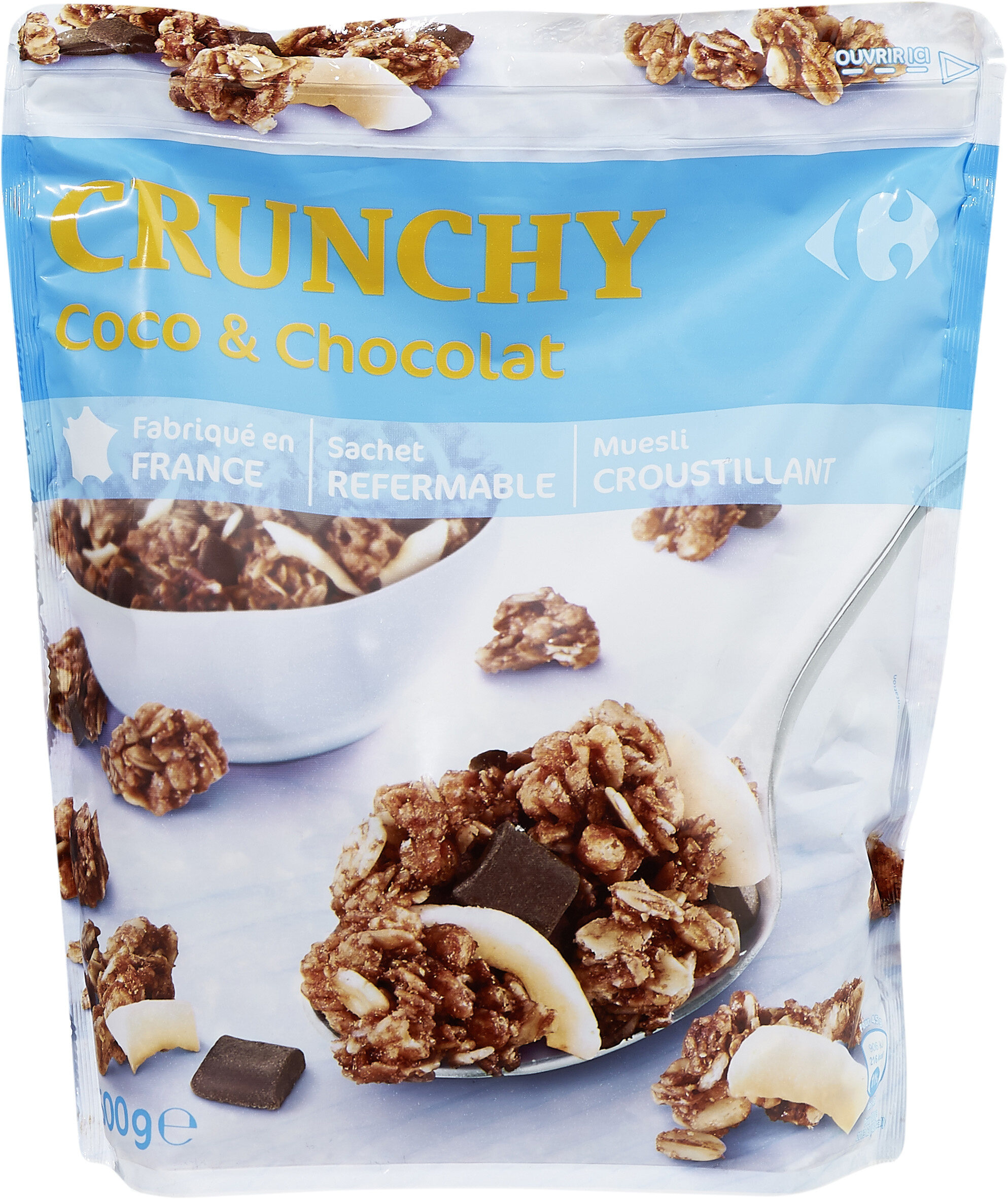Crunchy Coco & Chocolat - Muesli croustillant - Produit - fr