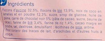 Crunchy Coco & Chocolat - Muesli croustillant - Ingrédients - fr