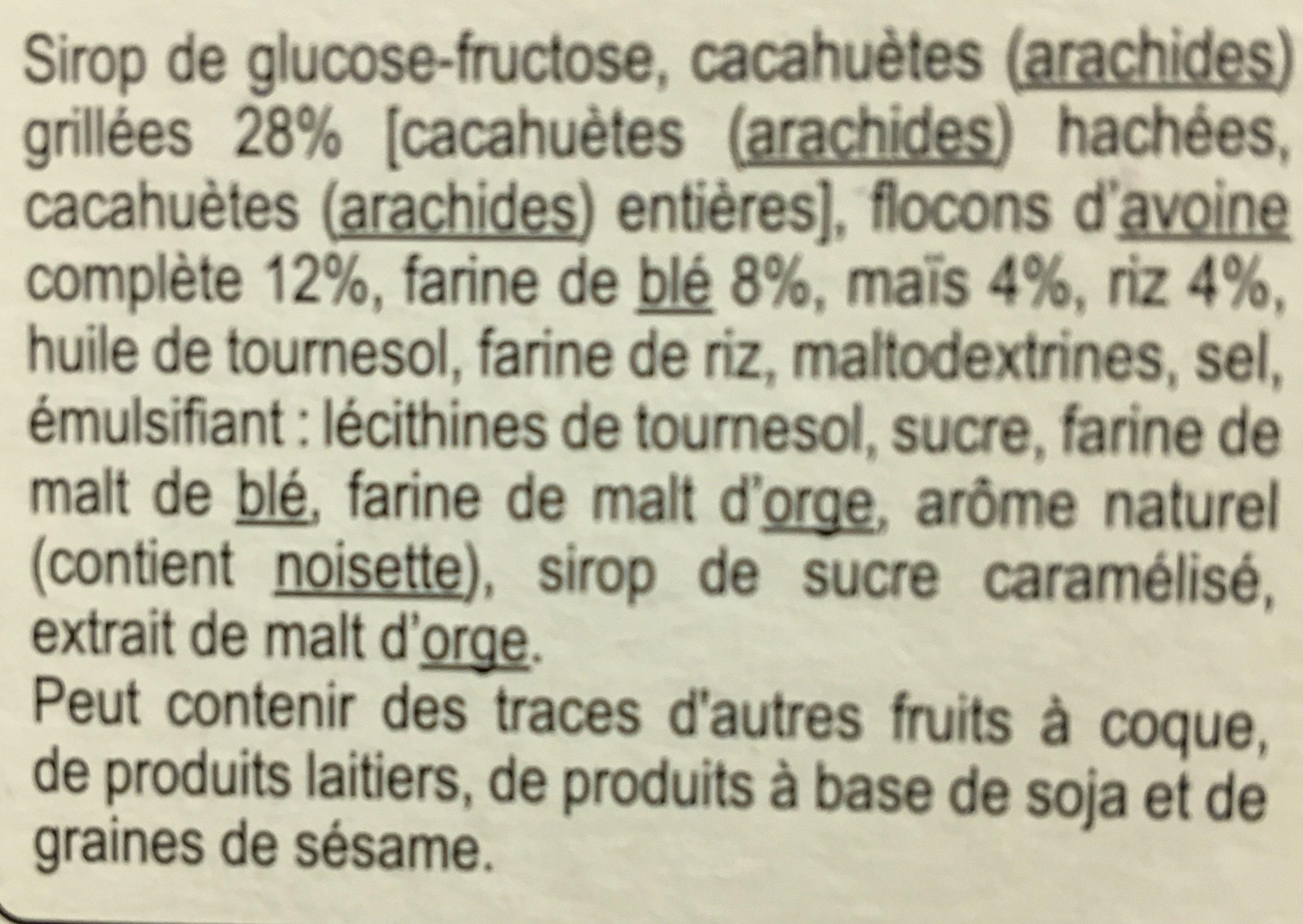 Barres cerealieres 4 cereales - Ingredientes - fr