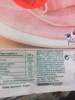 Jambon supérieur sans couenne - Ingredients - fr