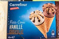 Petits cones vanille chocolat - Produit - fr