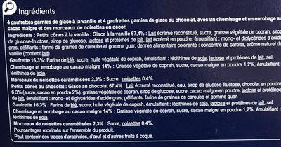 Petits cones vanille chocolat - Ingrédients - fr