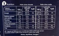 Petits cones vanille chocolat - Informations nutritionnelles - fr