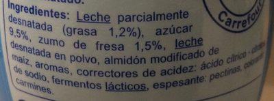 Yaourt à boire  Fraise - Ingredientes