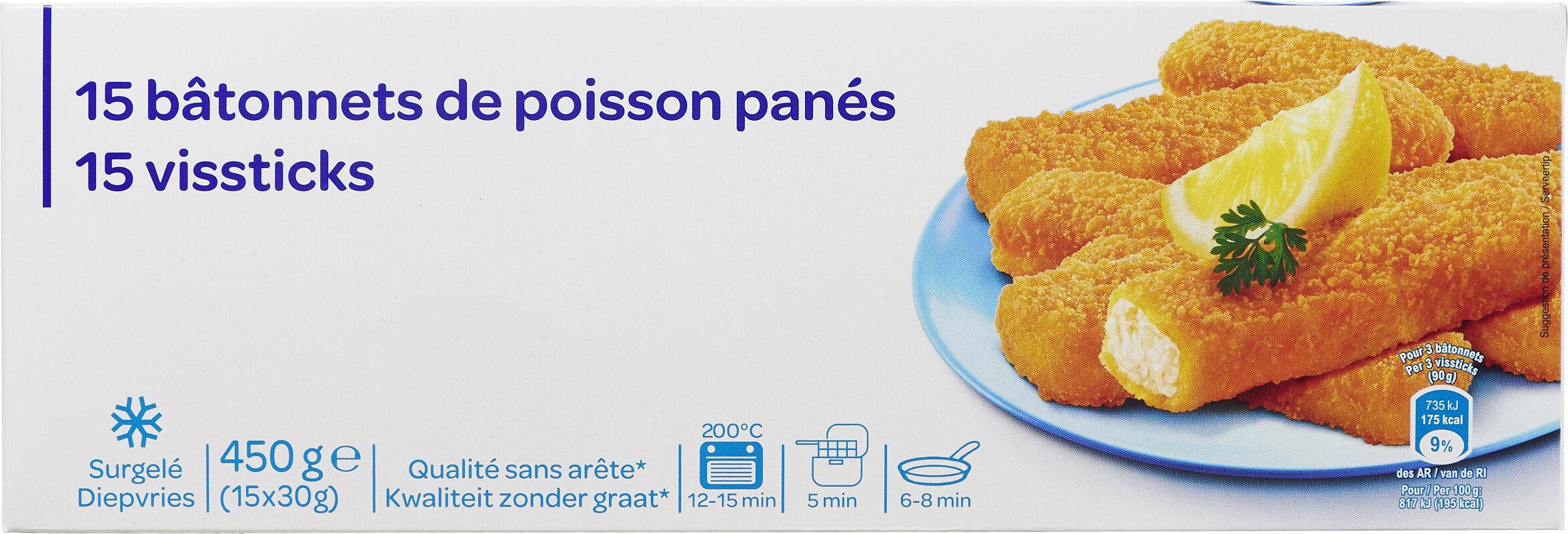 15 bâtonnets de poisson panés - Product - fr