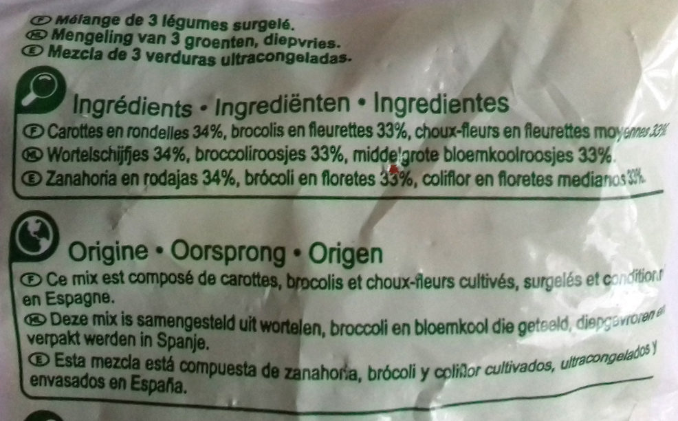 Brocoli mix - Ingredientes