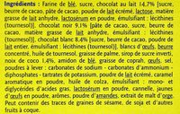 Fins Biscuits Pâtissiers - Ingredients