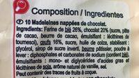Madeleines nappées de chocolat - Ingredients - fr