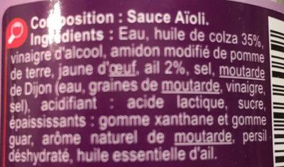 Sauce aïoli - Ingredients