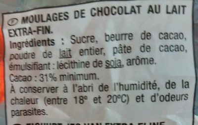 Chocolat au lait oeufs Hello Kitty Jacquot - Ingredients - fr