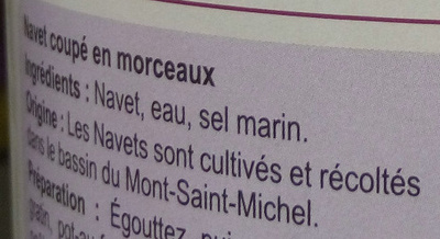 Navet du bassin du Mont-Saint-Michel - Ingredienti - fr