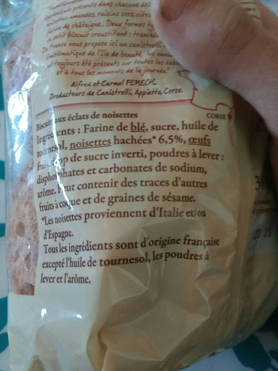Canistrelli corses - Ingredients - fr