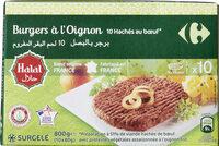 Burgers à l'oignon 10 hachés au bœuf* - Product - fr