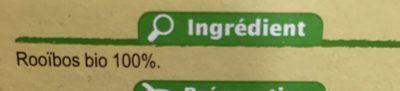 Infusion bio rooïbos Bio - Ingrediënten - fr